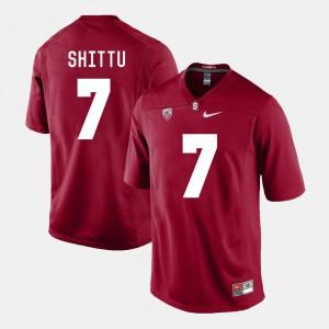 Aziz Shittu Stanford Jersey Men #7 College Football Cardinal 910455-693