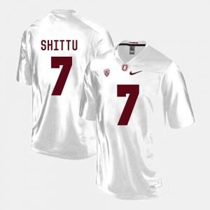 Aziz Shittu Stanford Jersey #7 College Football White For Men's 937784-853