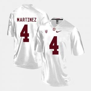 #4 White Blake Martinez Stanford Jersey College Football For Men's 377527-789