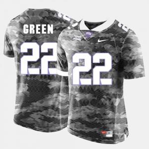 College Football Aaron Green TCU Jersey #22 Men Grey 286826-624