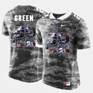 #22 Grey Mens High-School Pride Pictorial Limited Aaron Green TCU Jersey 163450-762