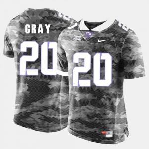Deante Gray TCU Jersey Grey #20 College Football Men 192399-408