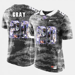 Men's Deante Gray TCU Jersey #20 Grey High-School Pride Pictorial Limited 618094-309
