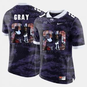 High-School Pride Pictorial Limited #20 Mens Purple Deante Gray TCU Jersey 379888-965