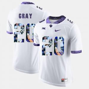 Men's Deante Gray TCU Jersey High-School Pride Pictorial Limited White #20 516366-312