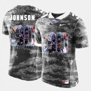 High-School Pride Pictorial Limited Grey Denzel Johnson TCU Jersey #30 For Men's 419589-748