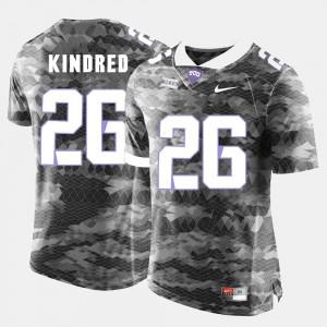 For Men Derrick Kindred TCU Jersey #26 College Football Grey 424134-204