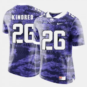 #26 Derrick Kindred TCU Jersey Purple College Football Mens 478422-885