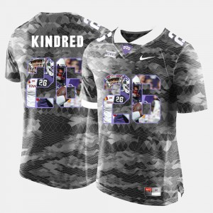 #26 Derrick Kindred TCU Jersey Mens High-School Pride Pictorial Limited Grey 985059-453