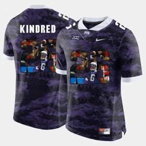 High-School Pride Pictorial Limited Purple #26 For Men Derrick Kindred TCU Jersey 718662-495