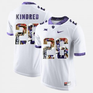 White High-School Pride Pictorial Limited Derrick Kindred TCU Jersey #26 For Men's 795478-837