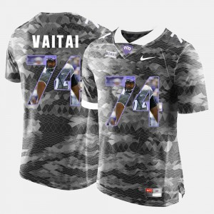 High-School Pride Pictorial Limited For Men's #74 Halapoulivaati Vaitai TCU Jersey Grey 183388-884