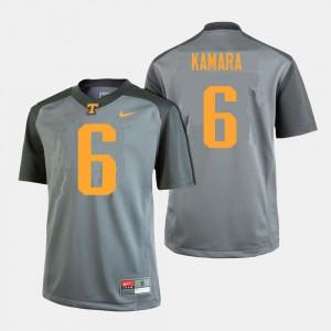 #6 Gray College Football Mens Alvin Kamara UT Jersey 745899-433