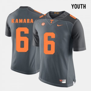 Grey #6 Kids College Football Alvin Kamara UT Jersey 911740-848