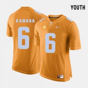 College Football #6 Alvin Kamara UT Jersey Orange Youth(Kids) 655268-154