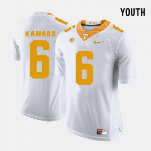 College Football White #6 Alvin Kamara UT Jersey Youth(Kids) 370669-138