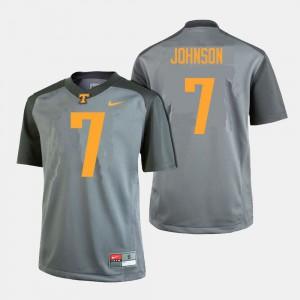 Gray College Football #7 Brandon Johnson UT Jersey Men 350278-765