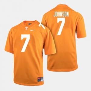 College Football For Men's #7 Brandon Johnson UT Jersey Orange 796907-306