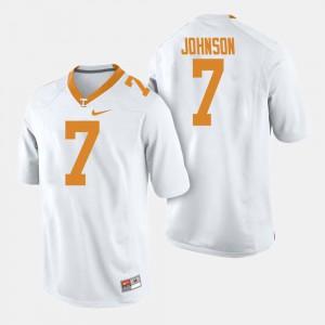 White Mens College Football #7 Brandon Johnson UT Jersey 774134-739