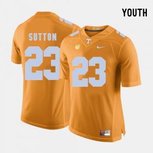 College Football Orange Youth(Kids) #23 Cameron Sutton UT Jersey 565846-569