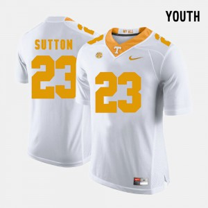 White College Football Cameron Sutton UT Jersey Youth #23 555398-877