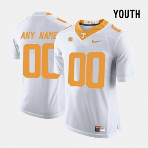 College Limited Football UT Custom Jerseys Youth(Kids) White #00 796165-420
