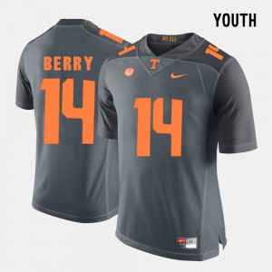 Grey College Football #14 Youth Eric Berry UT Jersey 845160-916