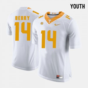 Eric Berry UT Jersey #14 College Football Youth(Kids) White 974257-423