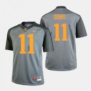 Joshua Dobbs UT Jersey #11 For Men Gray College Football 868729-620