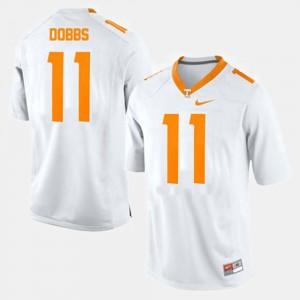 #11 Men's White College Football Joshua Dobbs UT Jersey 847337-259