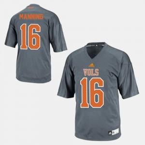 Gray #16 College Football Peyton Manning UT Jersey Kids 864959-435