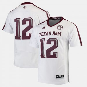 White Texas A&M Jersey #12 2017 Special Games Men 747671-803