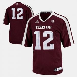 #12 Texas A&M Jersey Kids Burgundy College Football 419688-235