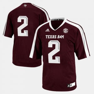 College Football Mens Texas A&M Jersey #2 Maroon 787537-332