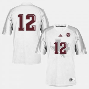 #12 Texas A&M Jersey College Football White Youth 695556-849