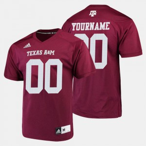 #00 College Football For Men's Texas A&M Customized Jersey Maroon 350802-769