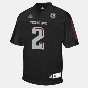 College Football Black #2 For Men's Johnny Manziel Texas A&M Jersey 355534-858