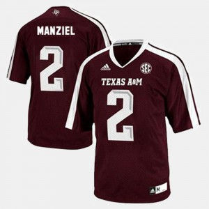 #2 College Football Johnny Manziel Texas A&M Jersey Red For Men 503261-975