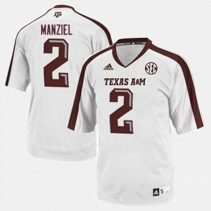 Youth Johnny Manziel Texas A&M Jersey #2 White College Football 656832-850