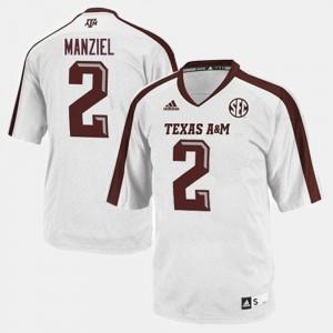 Men Johnny Manziel Texas A&M Jersey College Football White #2 430029-185