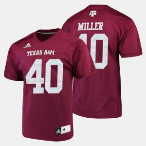 For Men #40 Maroon College Football Von Miller Texas A&M Jersey 266177-830