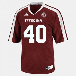 College Football #40 Red For Men Von Miller Texas A&M Jersey 143384-278