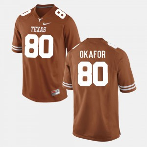 Burnt Orange College Football Men Alex Okafor Texas Jersey #80 664509-572