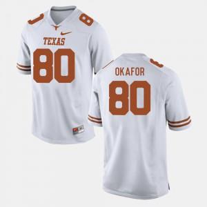 For Men White #80 College Football Alex Okafor Texas Jersey 318226-770