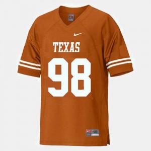 Brian Orakpo Texas Jersey For Kids College Football Orange #98 553179-678