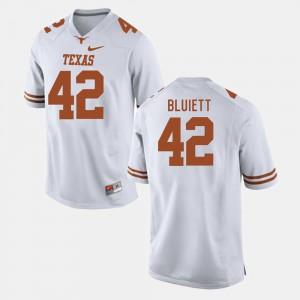 White For Men Caleb Bluiett Texas Jersey #42 College Football 475632-467