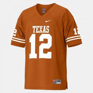 #12 Youth(Kids) College Football Colt McCoy Texas Jersey Orange 647667-718