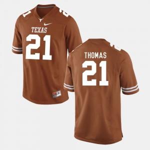 Duke Thomas Texas Jersey College Football Burnt Orange #21 For Men 565692-256