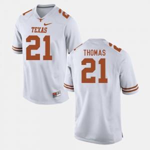 Duke Thomas Texas Jersey #21 White College Football Men's 954976-580