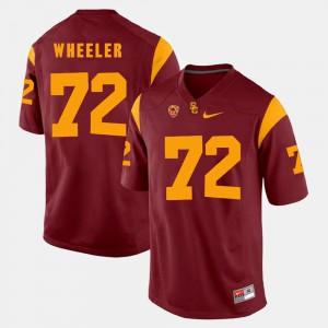 #72 Pac-12 Game Red Chad Wheeler USC Jersey Men 812296-454